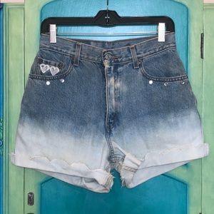 Levi's CUSTOM vintage high waisted shorts w lace